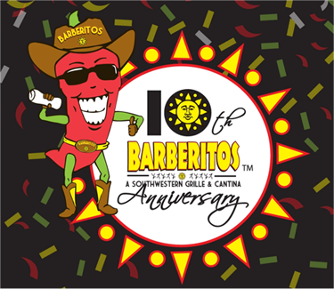 Barberitos : for supporting barberitos over the last 10 years says barberitos
