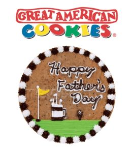 Great American Cookies Cookie Cake Catalogue Features A Variety Of Fathers Day Designs Including Themes Around Fishing Music Golf Football And More