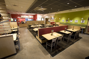 The interior of the new Fazoli's prototype in Dayton, Ohio.
